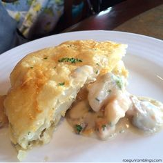 Top foods at universal orlando - seafood pot pie at Lombard's