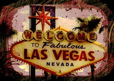 Vegas Destructed by Ryan Burton The landmark Las Vegas sign destructed with heavy graphic design elements. http://fineartamerica.com/featured/vegas-destructed-ryan-burton.html