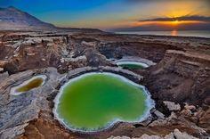 Sinkholes, near the Dead Sea