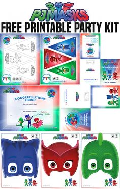 April 28 Is National SUPERHERO Day! 5 Ways to Celebrate With PJ Masks Who doesn't want to be a superhero? Whether you are young or old, superheros are pretty awesome. April is National Superhero day and PJ Masks wants you to CELEBRATE with these fun a Fourth Birthday, 4th Birthday Parties, Boy Birthday, Birthday Ideas, Pjmask Party, Party Kit, Party Ideas, Baby Party, Pj Masks Printable