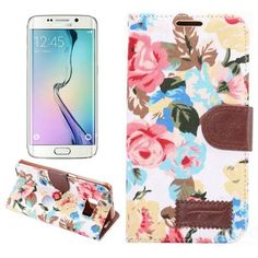 TPU Leather Flower Cloth Flip-open Case For Samsung Galaxy S6 Edge