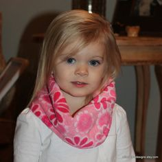Infant Toddler Infinity Scarf Minky Pink and by mishacoledesigns, $10.00