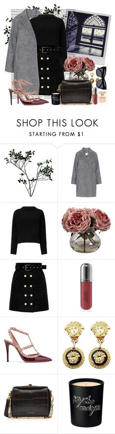 """""""Working Wednesday Fashion"""" by katartrina ❤ liked on Polyvore featuring Polaroid, Abigail Ahern, Miss Selfridge, Nearly Natural, Revlon, Valentino, Versace, Alexander McQueen, Bella Freud and Narciso Rodriguez"""