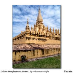 Golden Temple (Great Sacred Stupa), Laos Postcard