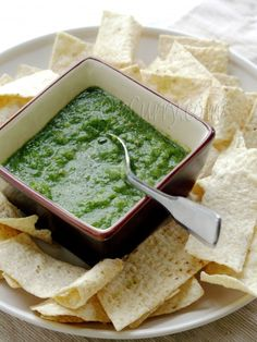 Mint & Coriander Green Chutney from ecurry - used mostly ingredients from garden (note to self: plant ginger). perfect on salad, fish & eggs. Also mixes with yogurt for tasty sauce