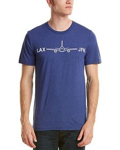LAX - JFK men's t-shirt in vintage navy; 100% cotton, machine wash