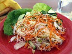 cocina con luz verde: Ensalada de fideos celofán