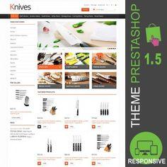 Thèmes PrestaShop pour une boutique de vente de couteaux et autres accessoires…