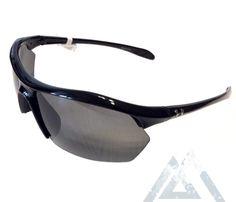 08288cacf1 Under Armour Zone XL Sunglasses UA - Shiny Black - Gray 8600023-5100      GoNative    SeeNative   NativeSlope.com