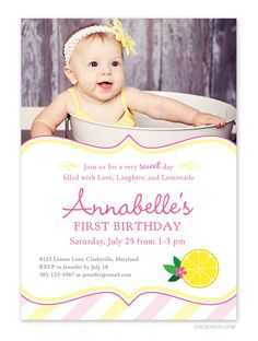 Pink Lemonade party  Set of 15 custom photo by Chickabug on Etsy, $30.00