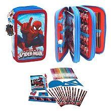 Spider-man - Estojo 3 Compartimentos