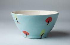 Brookwood Pottery, irish ceramic jug, handmade in Dublin Ireland, Blue and Red, ceramic pottery