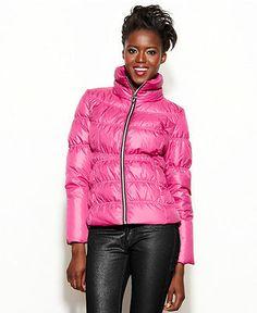 f34da9a5c0664 GUESS Funnel-Neck Quilted Puffer Coat Women - Coats - Macy s