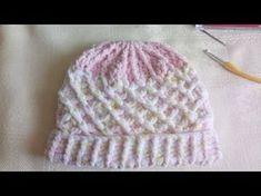 Gorro a crochet para bebe con flor 3D paso a paso - YouTube Zapatitos Para  Bebe 998c3f68d18