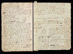 Isaac Newton's notebook which he acquired while he was an undergraduate at Trinity College and used from about 1661 to 1665. It includes many notes from his studies and, increasingly, his own explorations into mathematics, physics and metaphysics. It was judged 'Not fit to be printed' by Newton's executor and was presented to the Library by the fifth Earl of Portsmouth in 1872