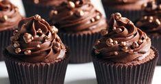 Cupcakes de chocolate para comer sem culpa