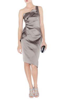 3602836aed15 Karen Millen One Shoulder Satin Dress Gray Dm202 Sale Regardless of how  negative items may seem