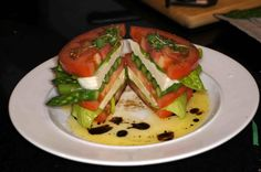 REMCooks.com Stacked Caprese Salad with Asparagus