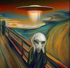 ufo-the-truth-is-out-there The Scream by Edvard Munch: UFO Fan art