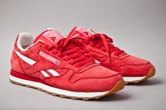 "The Reebok Classic Leather Vintage ""Union Red"" is a cheery trainer for the sneakerheads who love red!"