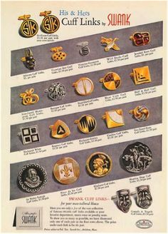 Vintage Jewelry Sellers on Etsy: One For the Guys: The History of Swank