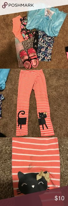 Preloved Kids Pack Preloved kids pants (5 pairs 4t ) Elsa nightgown (3t) and sweatpants (3t)  shoes (size 8). Items are worn but still have life. Other