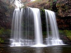 Waterfall In The Brecon Beacons, Wales, UK Walk in beautiful places. Places To Travel, Places To See, Brecon Beacons, Beautiful Waterfalls, Bean Bag, Countryside, Tourism, Beautiful Places, National Parks