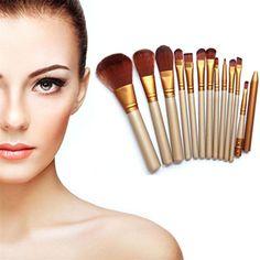 Sannysis Pro Makeup 12pcs Brushes Set Powder Foundation Eyeshadow Eyeliner Lip Brush Tool * More info could be found at the image url.