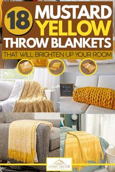 18 Mustard Yellow Throw Blankets That Will Brighten Up Your Room. Article by HomeDecorBliss.com #HomeDecorBliss #HDB #home #decor