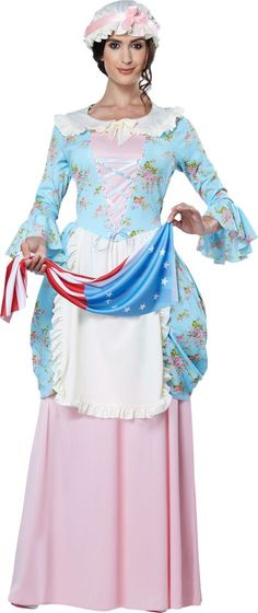PartyBell - Miss Liberty Adult Costume - One Size Halloween - party city store costumes