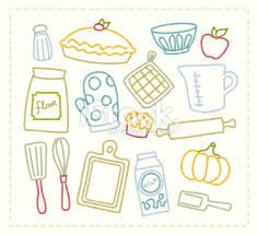 Baking Supplies Vector