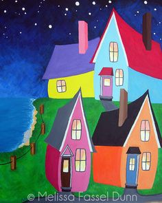 Seaside Houses painting by Melissa Fassel Dunn