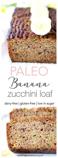 Healthy Snacks This flourless banana zucchini loaf makes a great healthy snack, dessert or quick and easy breakfast! It's also packed full of nutrients, moisture and flavour! Gluten-fee, dairy-free and paleo Zucchini Loaf, Banana Zucchini Bread Healthy, Paleo Dessert, Dessert Recipes, Banana Dessert, Paleo Sweets, Dairy Free Recipes, Gourmet Recipes, Vegan Recipes