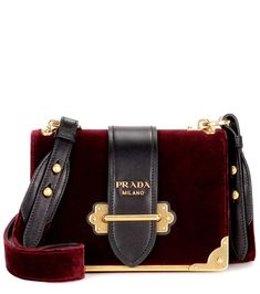 0826cd4800 Shop Cahier velvet shoulder bag presented at one of the world s leading  online stores for luxury fashion.
