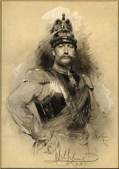 Kaiser Wilhelm II, 1891 by Max Johann Bernhard Exposition Photo, Double Exposition, Military Art, Military History, German Royal Family, Military Drawings, Royal Families Of Europe, Kaiser Wilhelm, King Of Prussia