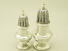 A fine pair of antique George II sterling silver sugar casters; part of our silverware collection  http://www.acsilver.co.uk/shop/pc/Sterling-Silver-Casters-Antique-George-II-50p3450.htm