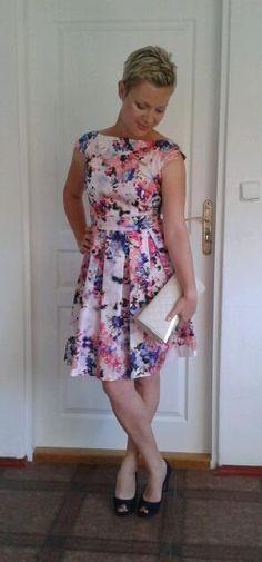 Outfit - Šaty/dress Orsay, Lodičky/peeptoe heels Lazzarini, Psaníčko/clutch Asos - Módnípeklo.cz