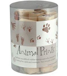 Leave lasting impression on your paper craft projects with the Hero Arts Ink N Stamp Animal Track Set. Featuring 18 woodblock rubber stamps and an ink pad, it can be used to make replica footprints of