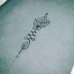 40 Ideas For Tattoo Arrow Unalome Tatoo Unalome Tattoo, Sternum Tattoo, Mandala Tattoo, Forearm Tattoos, Swirl Tattoo, Khmer Tattoo, Thai Tattoo, Pretty Tattoos, Sexy Tattoos