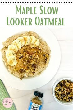 Make this comforting oatmeal recipe in your slow cooker and enjoy the aroma and flavor of real maple syrup, cinnamon, pumpkin pie spice, brown sugar, and pecan. #slowcookeroatmeal #glutenfreeoatmeal #healthybreakfastrecipe Gluten Free Recipes For Breakfast, Free Breakfast, Brunch Recipes, Gourmet Recipes, Homemade Syrup, Gluten Free Oatmeal, Recipe Filing, Easy Delicious Recipes, Oatmeal Recipes