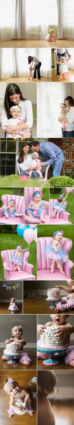 one year photo session. pinkletoes photography