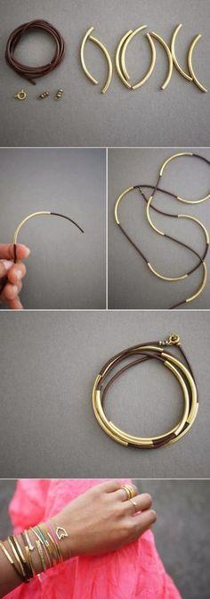 bijoux en cuir faire soi m me bracelets bijoux et crochets. Black Bedroom Furniture Sets. Home Design Ideas