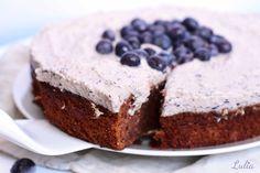 Schoko-Heidelbeer-Kuchen Das Rezept findet ihr auf www.lulia.at Banana Bread, Desserts, Food, Cake Cookies, Recipes, Tailgate Desserts, Meal, Dessert, Eten