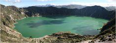 Famous Vulcanic lake in Ecuador