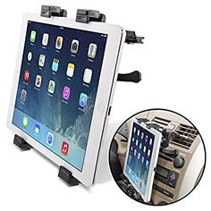 """[Lifetime Warranty] Okra® Universal Tablet Air Vent Car Mount Holder with 360° Rotating swivel compatible w/ Apple iPad, Samsung Galaxy Tab, and all Tablet Devices 7"""" to 11"""" (Retail Packaging) - http://i17.org/lifetime-warranty-okra-universal-tablet-air-vent-car-mount-holder/"""