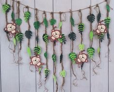 Jungle Vine Tropical Leaves Monkey Party Backdrop Welcome to The Jungle Theme Cake Table BackdropMonkey Decorations Jungle Party Backdrop Jungle Theme Cakes, Jungle Theme Birthday, Jungle Theme Parties, Monkey Birthday Parties, Dinosaur Birthday Party, Birthday Party Decorations, Monkey Party Decorations, Jungle Theme Decorations, Cake Decorations