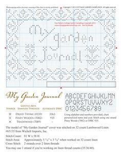 My Garden Journal's cover (Freebie)
