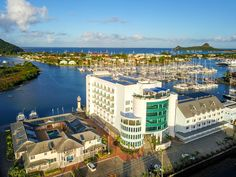 Lucia Curio Collection by Hilton A 4 Star Hotel Rodney Bay Marina Rodney Bay Castries Saint Lucia. Hotels And Resorts, Best Hotels, Boutique Retreats, Spa, Leading Hotels, Resort Villa, Hotel S, Stay The Night, Beautiful Islands
