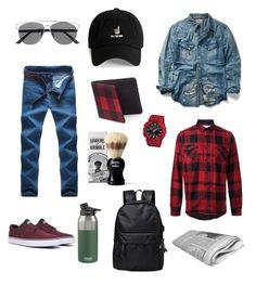 Mens style by lipovet on Polyvore featuring Ralph Lauren, NIKE, Sacai, G-Shock, 21 Men, Hawkins  Brimble, Urban Pipeline, CamelBak, mens fashion и menswear