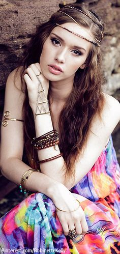 boho accessories and makeup